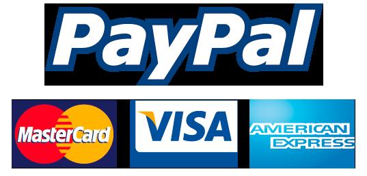 Admitimos tarjetas de crédito y PayPal.